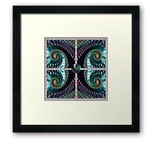 PLUM FRACTALS modern art decor and gifts Framed Print