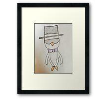 Fancy Penguin Framed Print