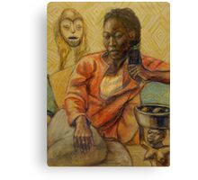 Woman with mask Canvas Print