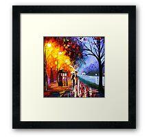 Starry Night Tardis Art Painting Framed Print