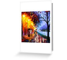 Starry Night Tardis Art Painting Greeting Card
