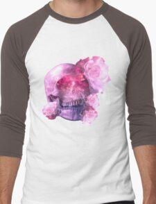 Pink skull Men's Baseball ¾ T-Shirt