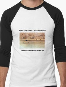 Oodnadatta Track Australian Outback - Take The Road Less Travelled Men's Baseball ¾ T-Shirt