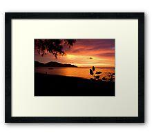 Penang Sunset Framed Print