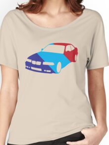 BMW e36 in Racing Colors Women's Relaxed Fit T-Shirt