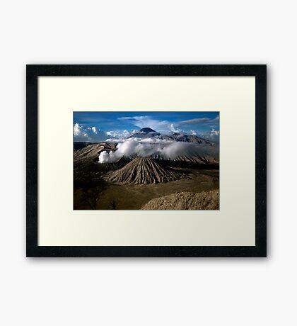 M. Bromo n Mt. Semeru, East Java, INDONESIA Framed Print