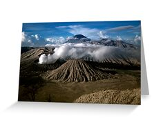 M. Bromo n Mt. Semeru, East Java, INDONESIA Greeting Card