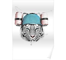 Cool White Tiger Poster