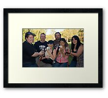 Group Photo. Ferret Picnic in Belair National Park.  Framed Print