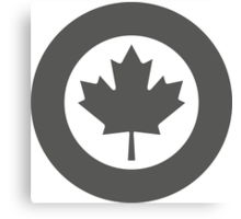 Low Visibility Roundel of the Royal Canadian Air Force  Canvas Print