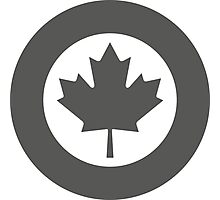 Low Visibility Roundel of the Royal Canadian Air Force  Photographic Print