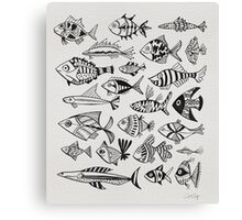 Black Inked Fish Canvas Print
