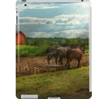 Country - Ringoes, NJ - Preparing for crops iPad Case/Skin