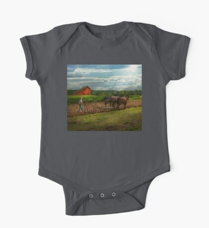 Country - Ringoes, NJ - Preparing for crops One Piece - Short Sleeve