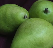 Three Green Pears by Stephen Thomas