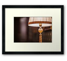 reading lamp with shade Framed Print