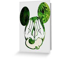 Mickey Illuminati Weed Greeting Card