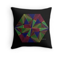 sdd Triangle Abstract Fractal Mandala 4J Throw Pillow