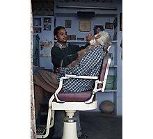 The Barber in Pushkar Photographic Print