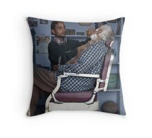 The Barber in Pushkar Throw Pillow