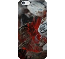 fireplace burning charcoal iPhone Case/Skin