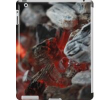 fireplace burning charcoal iPad Case/Skin