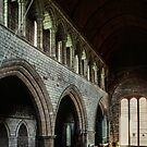 Nave and altar church of Lanercost Priory Cumbria England 198405260014  by Fred Mitchell