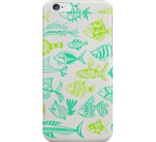 Green Inked Fish iPhone Case/Skin