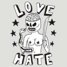 Love hate tattoo babe by DiabolickalPLAN