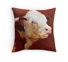 Fillion, ( cow ) from original oil painting by Madeleine Kelly Throw Pillow