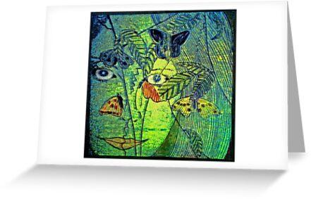 "Girl in a Forest 2- Woodcut Print by Belinda ""BillyLee"" NYE (Printmaker)"