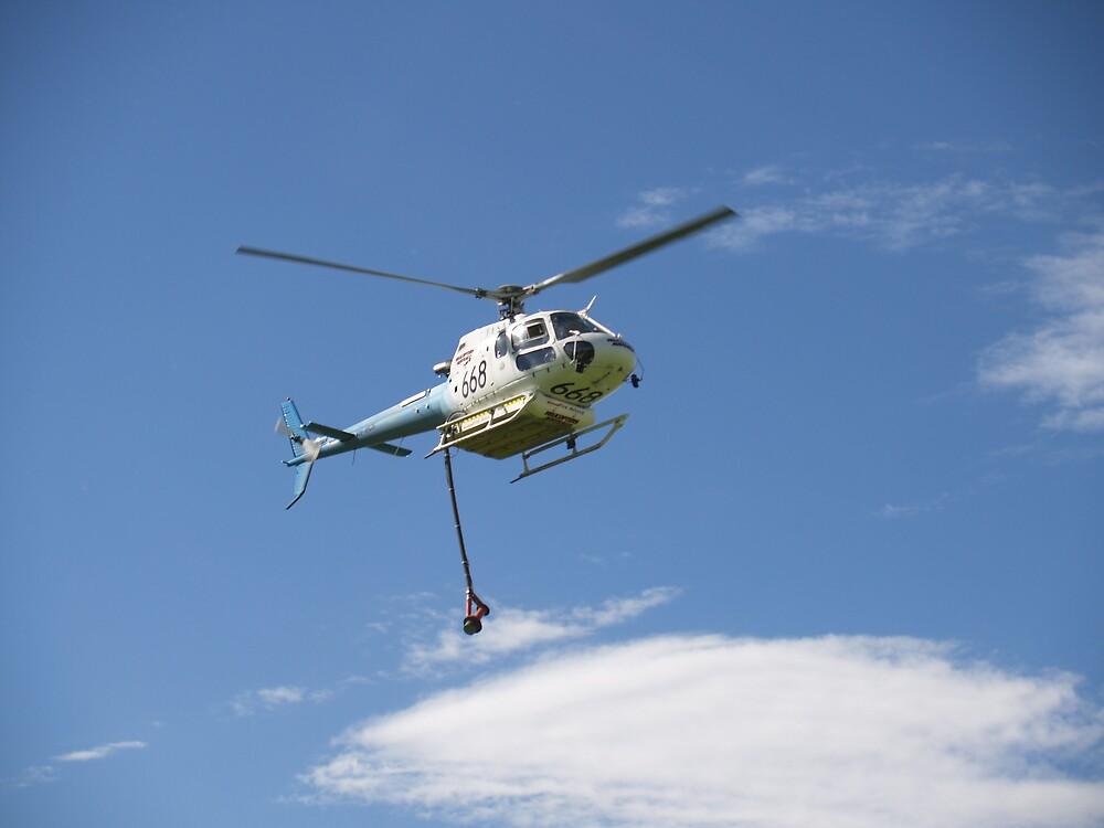 Helitanker in Flight by PishPosh