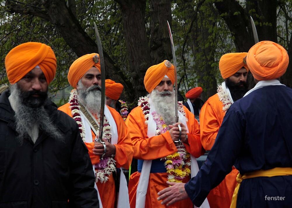Sikh Swordsmen by fenster