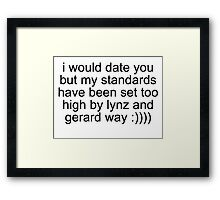 Lynz Gerard Dating Problems  Framed Print