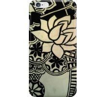 Abstract Architecture and Lotus Blossoming  iPhone Case/Skin