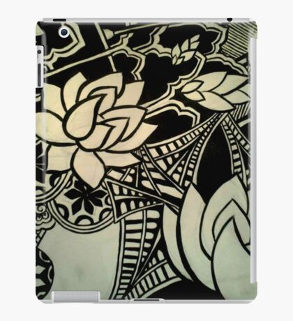 Abstract Architecture and Lotus Blossoming  iPad Case/Skin