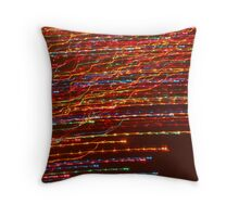 Hot Colored Streaks! Throw Pillow