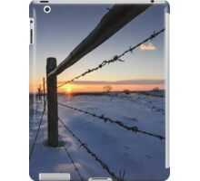 Snowy Sunrise against Barbed Wire iPad Case/Skin