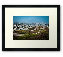 San Francisco in Fog Framed Print