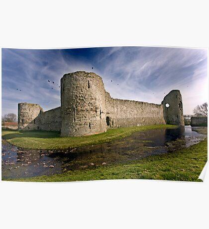 Pevensey Castle Poster