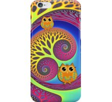 Owls in a magical world iPhone Case/Skin