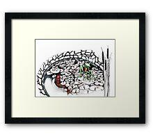 Frog in a pond Framed Print
