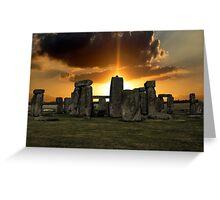 Stonehenge Wiltshire UK  Greeting Card