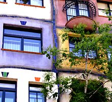 Hundertwasser windows - Vienna by maryej