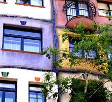 Hundertwasser windows - Vienna by maryej