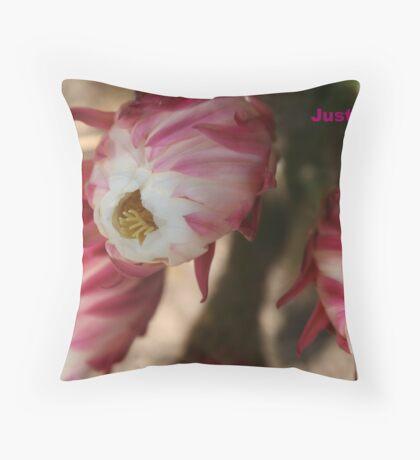 blooming cactus Throw Pillow