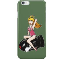 Retro Peach on Bullet Bill iPhone Case/Skin