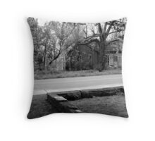 Across from the Graveyard Throw Pillow
