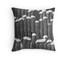 Wigs of Winter Throw Pillow