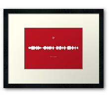 Fan Chants - Good Old Arsenal Framed Print